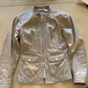 Prada early-2000s 100% leather jacket